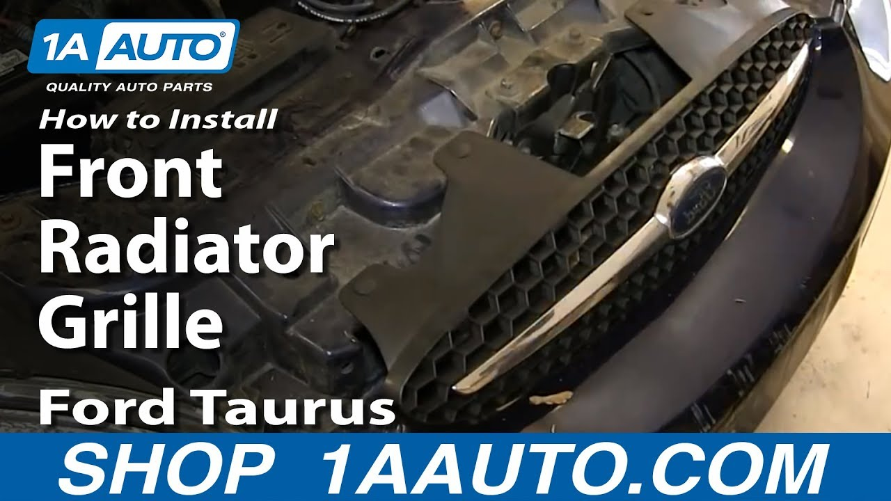 How to install replace front radiator grille 2000 03 ford taurus