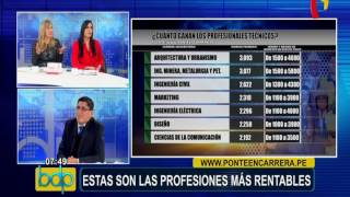 Estas son las carreras profesionales más rentables en el Perú