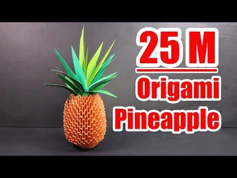 3d origami pineapple tutorial | crazyMCH