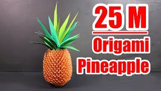 3d origami pineapple tutorial | crazyMCH