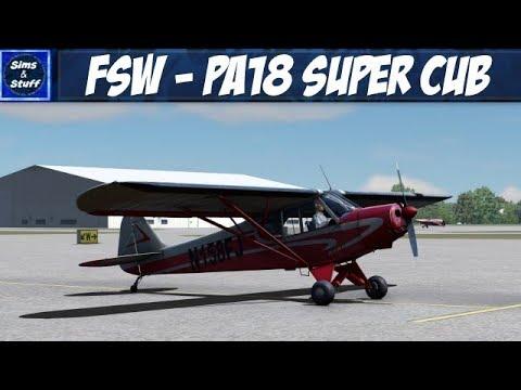 Flight Sim World - A Trip Around Bournemouth - PA18 Super Cub