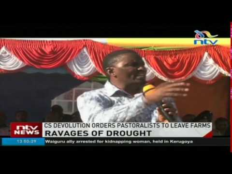 CS Devolution orders pastoralists to leave farms