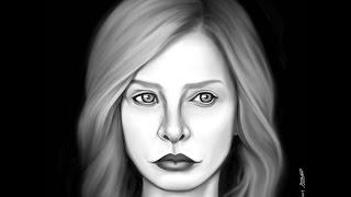 iPad drawing/Procreate/Calista Flockhart/Cat Grant/Supergirl/Portrait/Process/Actress/아이패드 그림/드로잉