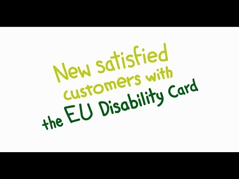 New satisfied customers with the EU Disability Card