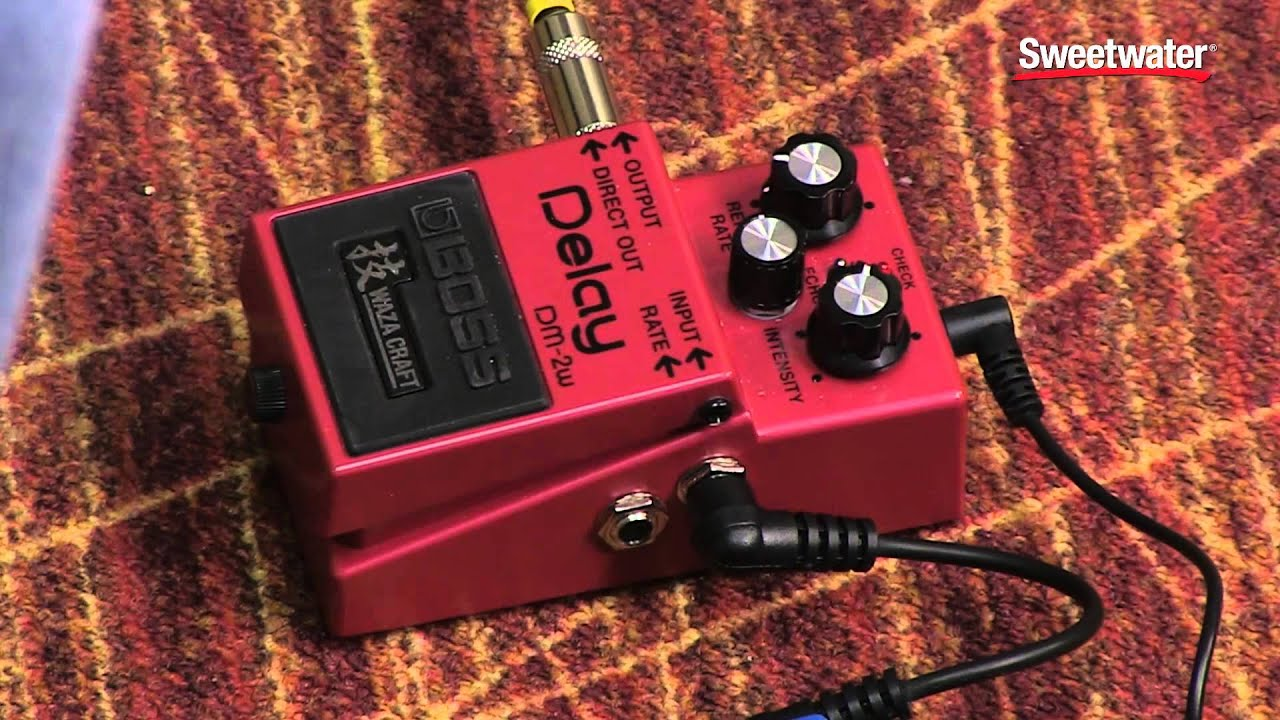 boss waza craft dm 2w delay pedal review by sweetwater. Black Bedroom Furniture Sets. Home Design Ideas