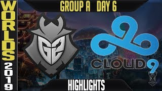 G2 vs C9 Highlights Game 2 | S9 Worlds 2019 Group A Day 6 | G2 Esports vs Cloud9