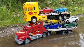 Driving toy cars for kids in turbid water By Toy Truck