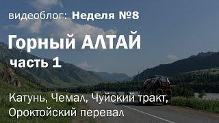 Неделя 8: Горный Алтай на Газель 4х4. Часть 1: Катунь, Чемал, Чуйский тракт, Ороктойский перевал