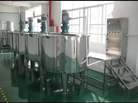 Natural Herbal Shampoo Making Machines Line Designed