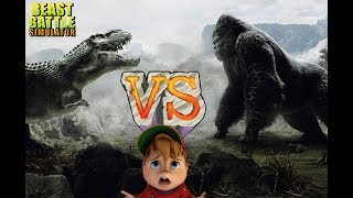 King Kong vs T-Rex || Beast Battle Simulator #1