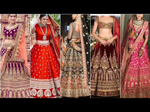 Beautiful Indian bridal lehnga choli designs in my latest fashion beauty