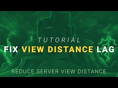 How To Fix Lag By Reducing View Distance On A Minecraft Server