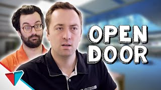 Clever way to stop people stealing - Open Door