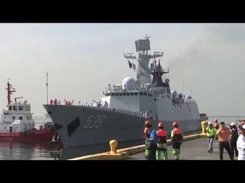 Chinese Navy ships arrive in Manila for goodwill visit