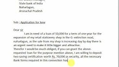 application to the bank for loan