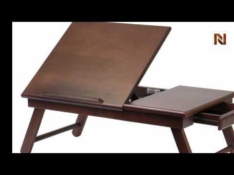 Winsome Alden Lap Desk Flip Top With Drawer Foldable Legs 94623