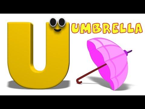 Phonics Letter- U song Kids Tv Nursery Rhymes S01EP189