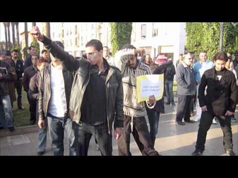 Freeze mob' Rabat 6 mars 2011