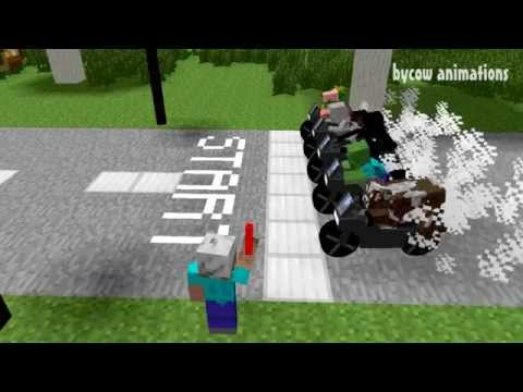 Monster School: Race (Minecraft Animation)