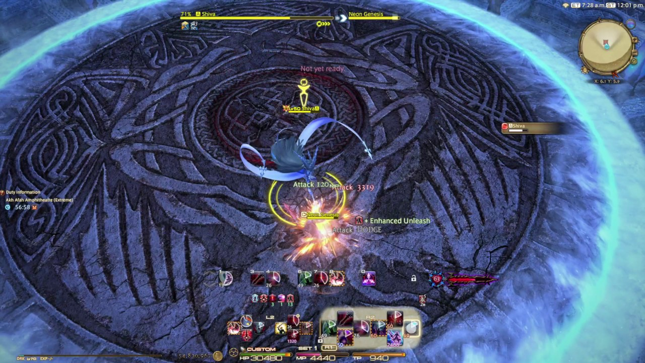 FFXIV Shiva Extreme DRK Solo Whistle run, The blackest night is good fun