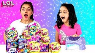 LUNCHBOX SWITCH UP CHALLENGE! SIS vs SIS  - LOL Dolls, Pikmi Pops, Disney Emoji Toys + Kidtropolis