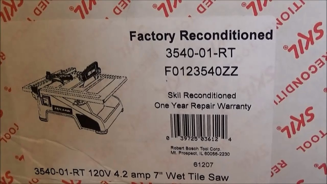 Review Of Skil 7 Wet Tile Saw 3540 01 Rt Reconditioned Refurbished