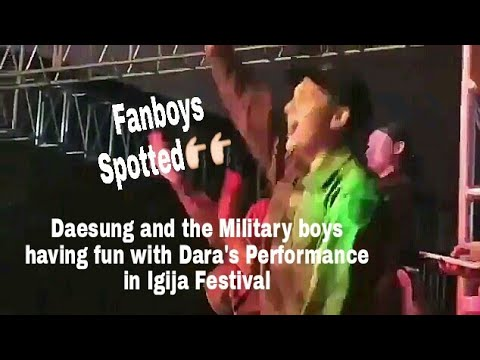 Military Fanboys Spotted during Dara's performance
