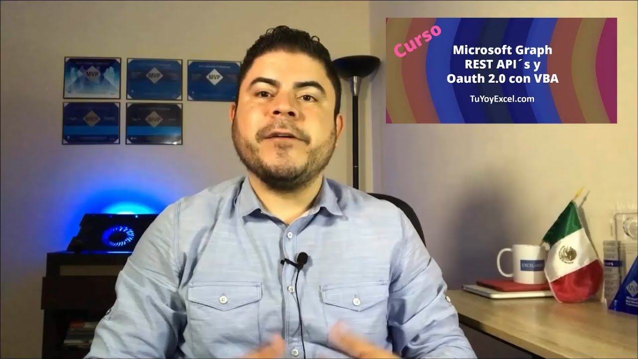 Trailer Curso Sobre Microsoft Graph, REST API´s y OAuth 2.0 con VBA Realizado por Sergio A. Campos