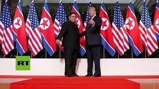 Donald Trump y Kim Jong-un se reúnen en Singapur