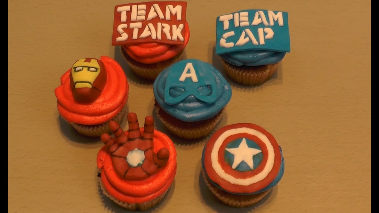 The First Avanger Civil War Cupcakes Captain America Iron Man