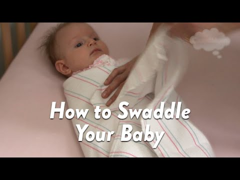 How To Swaddle Your Baby Cloudmom Youtube
