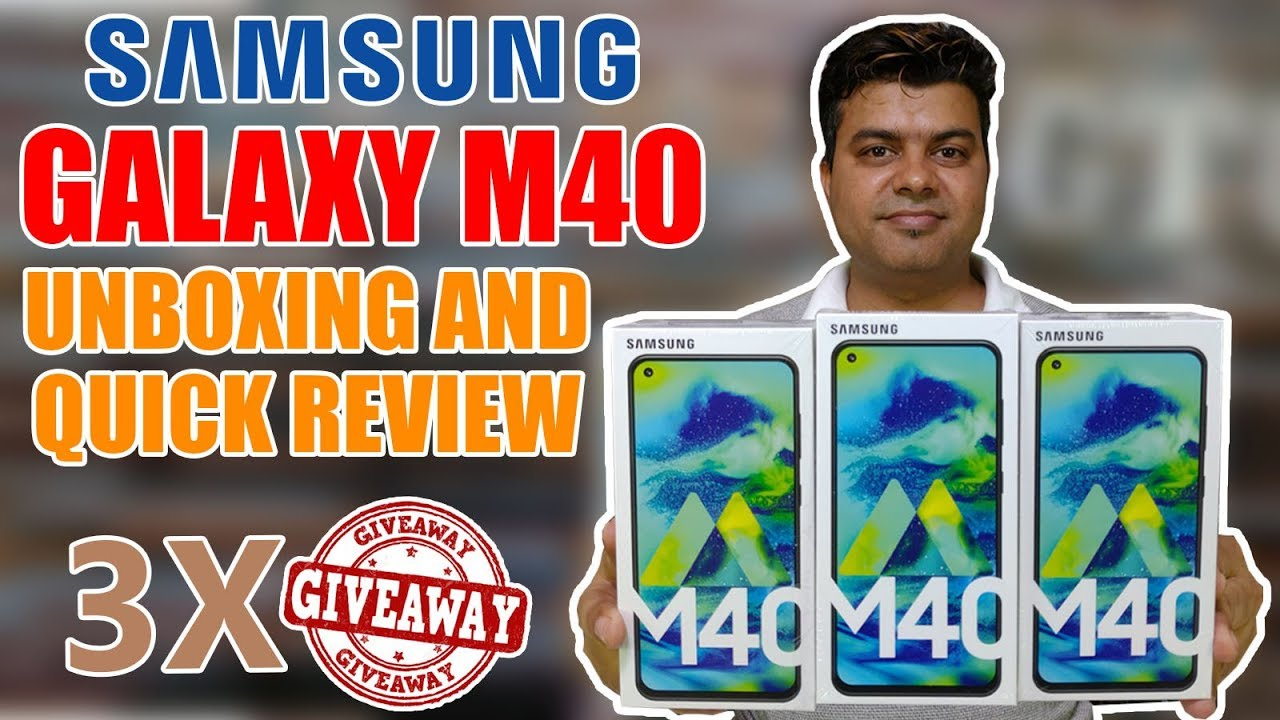 SAMSUNG M40 PUNCH HOLE MAGIC | UNBOXING AND 3 X GIVEAWAY | GTU SURPRISE