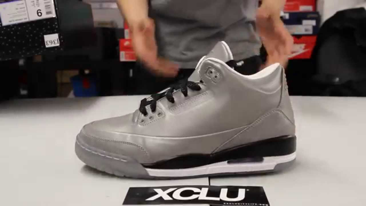 fa2c915241a8 Air Jordan 5Lab3 Reflective Silver - White - Black Unboxing Video at ...