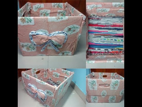 DIY Laundry Basket using Carton box | In Colors I Believe