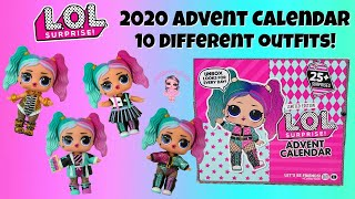 LOL Surprise Advent Calendar Unboxing 2020 Holiday OOTD Outfit of The Day