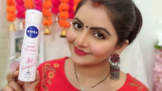 NIVEA pearl amp beauty underarms spray review RARA how to get clean clear fresh beautiful underarms