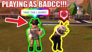 Playing as BADCC [CREATOR of JAILBREAK] | Roblox Jailbreak Fake Badcc