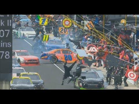 NASCAR Xfinity Series 2017. Indianapolis Motor Speedway. Pit lane Incidents