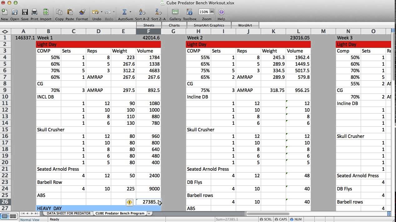 Powerlifting Workout Program Excel Blog Dandk