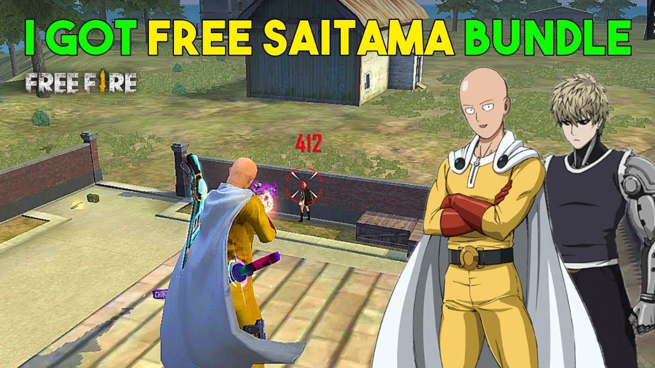 I Got Free Saitama and Genos Bundle For Promotion - Garena Free Fire