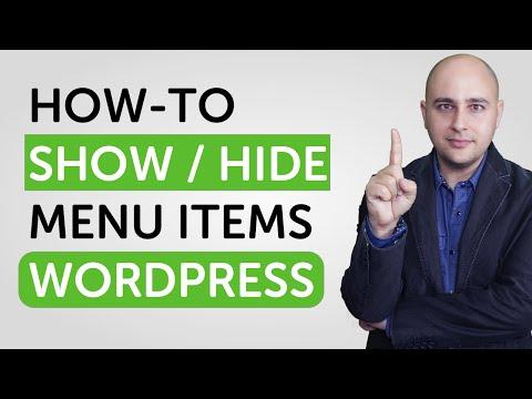 WordPress hide post menu