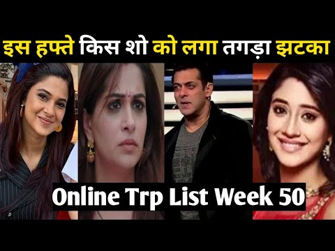 Week 50 Online TV Trp List : Which Show Became No.1 ? Beyhadh 2,Khkt,Yrkkh,Yrhpk,Kzk2,BB13