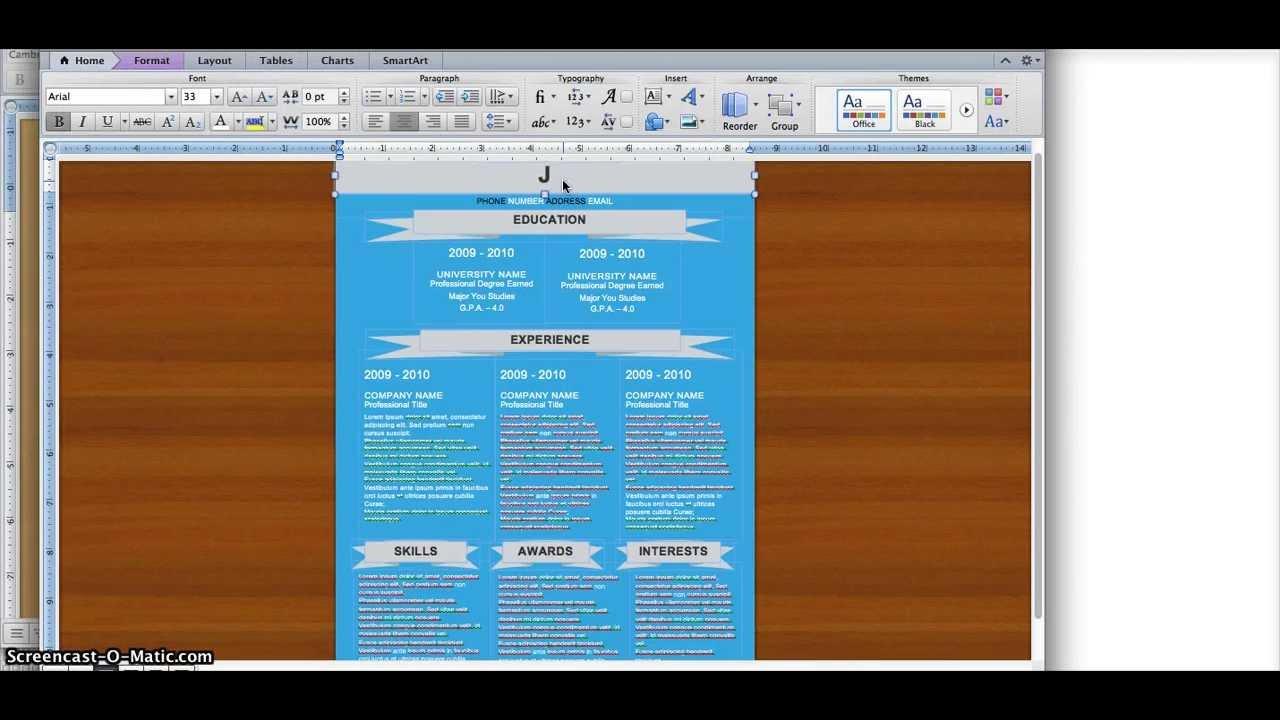 how to do a resume on microsoft word 2010 microsoft word 2010