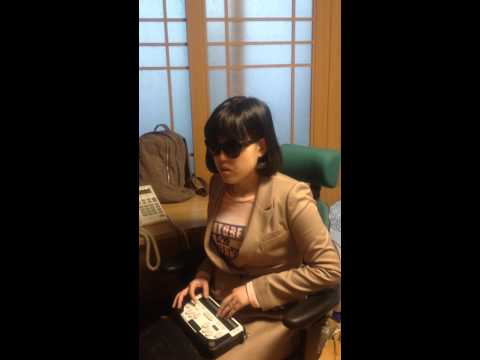 Eunah Choi, blind pianist, explains the need for Braille music scores