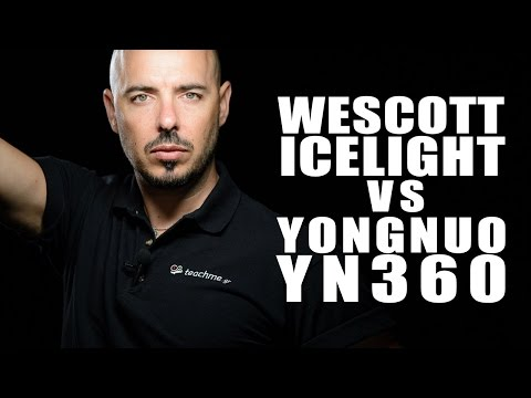 Yongnuo YN-360 vs Wescott Icelight 2 (with Subtitles)