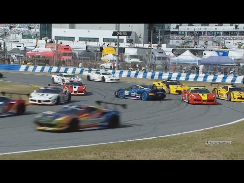 Ferrari Challenge North America 2018. Race 1 Daytona International Speedway. Start Spins
