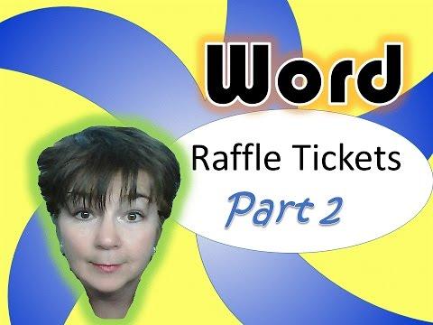 Microsoft Word Raffle Tickets: Part 2