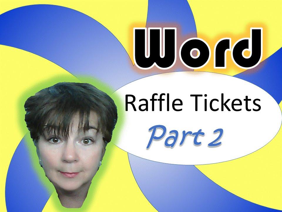 microsoft word raffle tickets part 2 youtube