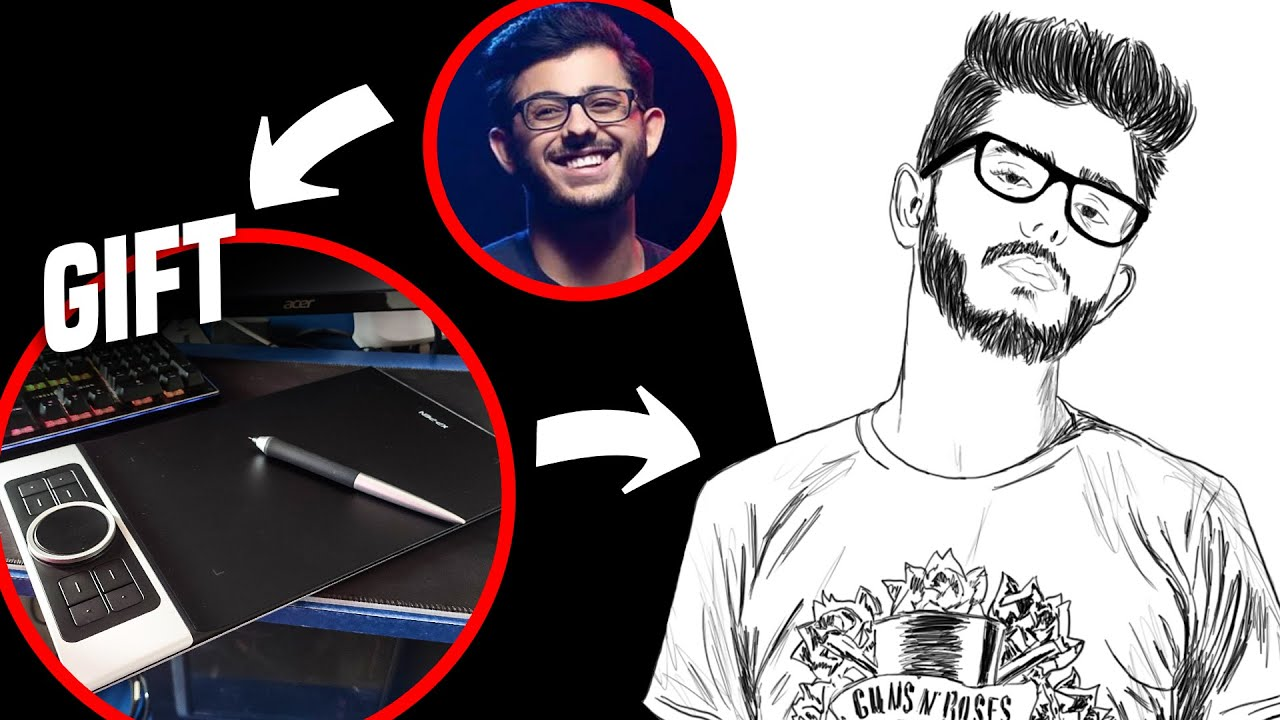 MAKING ART FOR @CarryMinati  USING HIS GIFT | JoblessFreaks