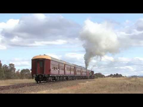 Australian Steam Trains: ARHS ACT 1210 & 4807 on the Canberra Line